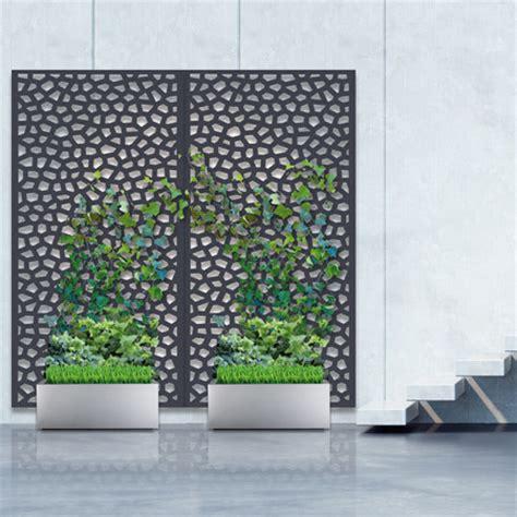 pack panneau d 233 coratif mosa 239 c anthracite vertical sur sol dur 1m x 2m nortene plantes et