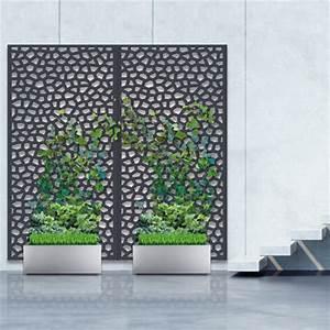 Panneau Décoratif Extérieur : pack panneau d coratif mosa c anthracite vertical sur sol ~ Premium-room.com Idées de Décoration