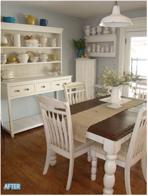 dining room the white hutch shelves the