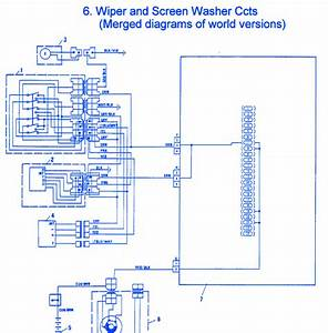 Fiat X1-9 1986 Washer Electrical Circuit Wiring Diagram
