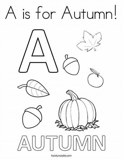 Coloring Autumn Pages Acorn Twistynoodle Ll