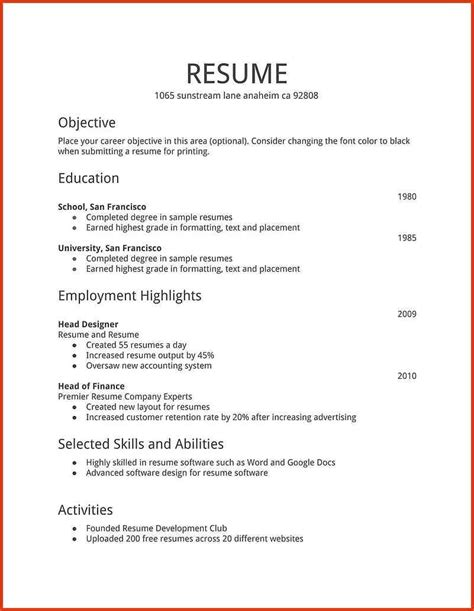 Updated Resume Templates by Resume Format Template Microsoft Word 50 Free Microsoft