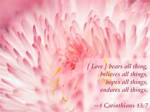 1 Corinthians 13 7