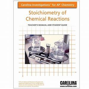 Carolina Investigations U00ae For Ap U00ae Chemistry  Stoichiometry