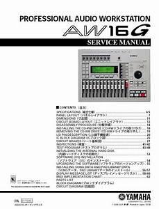 Yamaha Aw16g Digital Audio Workstation Service Manual