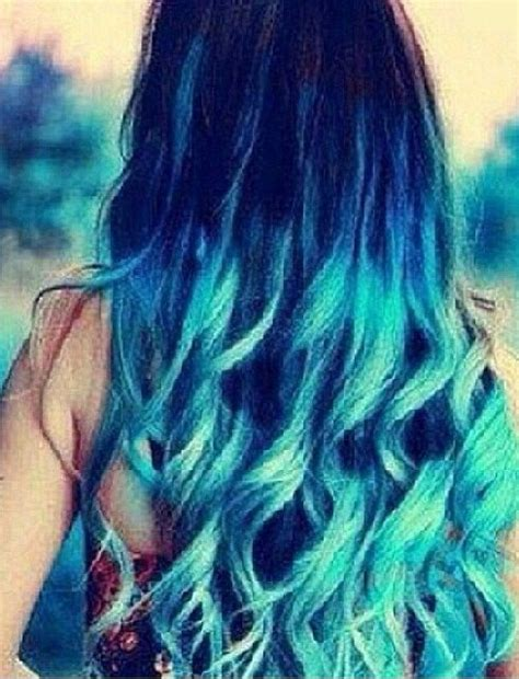 Blue Teal Hair Ombré Hair Stufff Pinterest