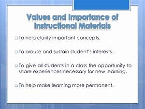 Preparation and... Instructional Material Quotes