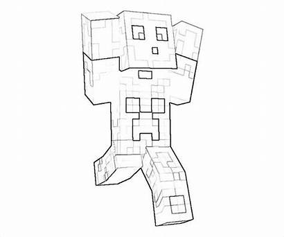 Minecraft Coloring Pages Printable Character Action Characters