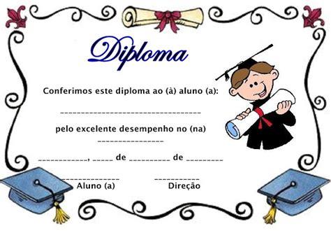 modelos de diplomas educa 199 195 o infantil para imprimir aprender e brincar
