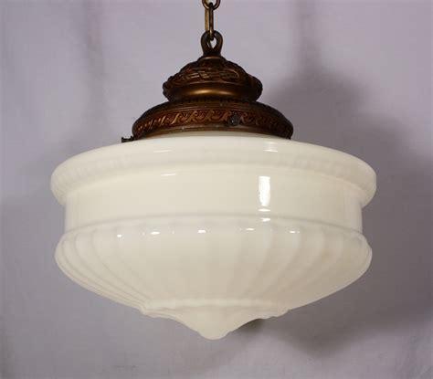 vintage glass light shades large antique pendant light fixture with original milk