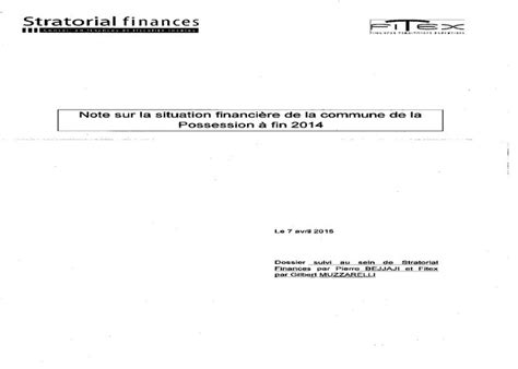 cabinet d audit financier la possession le cabinet d audit financier a rendu rapport d 233 finitif