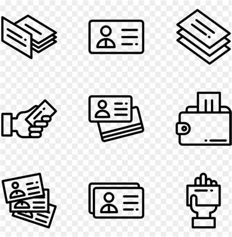 icon business card vector png  premium vector
