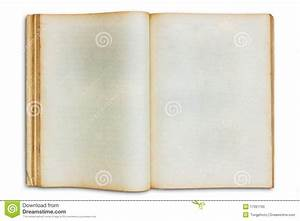Old Open Blank Book Isolated Royalty Free Stock Photo ...
