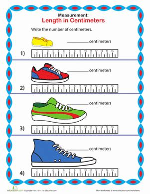 Measure A Sneaker Centimeters  Worksheet Educationcom