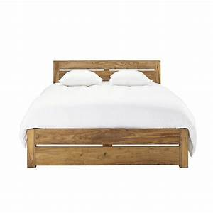 Bett 140 X 190 : lit 140 x 190 cm en bois de sheesham massif stockholm maisons du monde ~ Bigdaddyawards.com Haus und Dekorationen