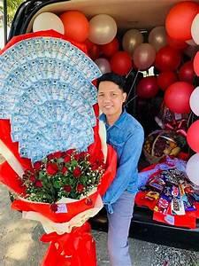 Cokelat Dan Merah Cantik Dengan Tak Kalah Romantis 10 Kreasi Buket Uang Yang Cocok Untuk