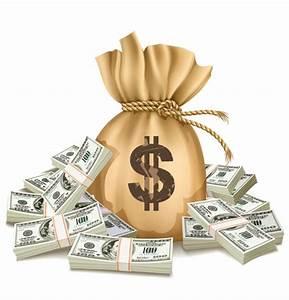 Sack with Money design vector graphics set 03 - Vector ...