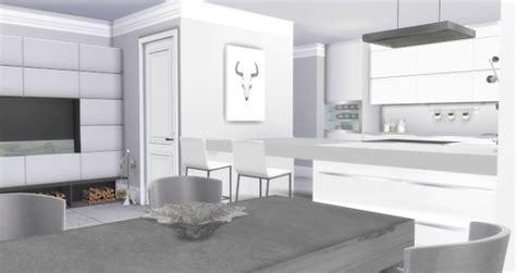 liney sims modern white kitchen sims  downloads