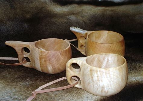 viking cups burled wood carved spoons burled wood