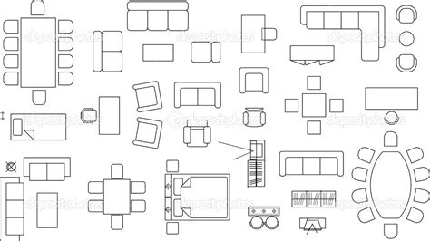 Floor Plan Furniture Architecture Plans Furniture Icons