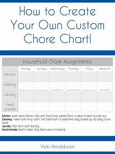 Cleaning Chart Template How To Create A Custom Chore Chart The Internet Social