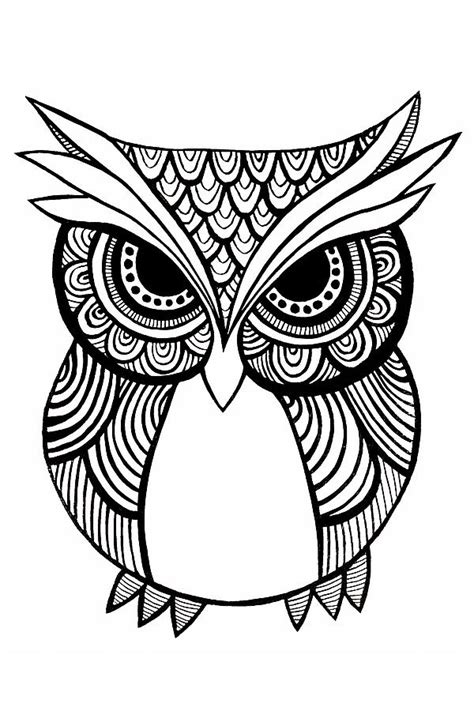 simple owl drawings black and white tribal owl black and white painting by carissa weber