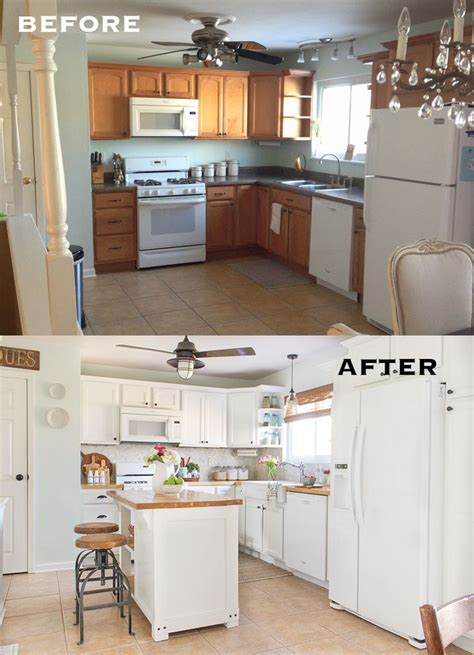 kitchen makeovers on a budget 20 small kitchen renovations before and after diy 8353