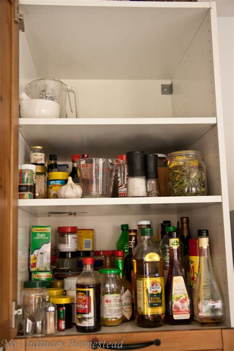 How To Organize Spices In Cupboard by Decluttering Organizing My Spice Cabinet No Ordinary