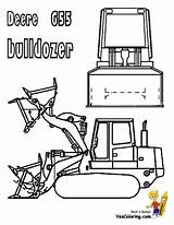 Coloring Bulldozer Pages Construction Equipment Heavy Deere John Excavator Yescoloring Sheet Digging Template sketch template