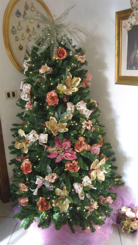 alberi con fiori rosa sull albero di natale parvafavilla s weblog