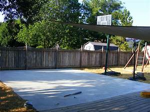 Mom 3 Ways Backyard Basketball Court And Now The Cold Hard