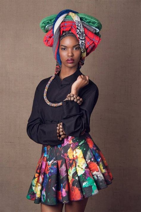 stunning  head dress african prints  fashion