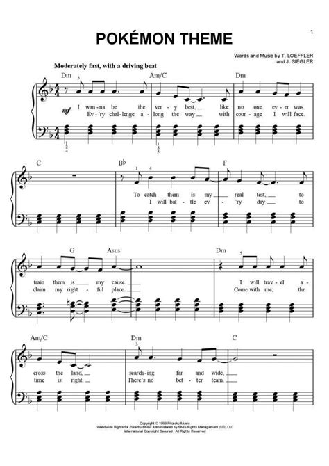 pokemon theme piano sheet music piano in 2019
