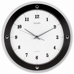 Horloge Murale Moderne : horloge murale moderne ronde bayard 3 coloris disponibles ~ Teatrodelosmanantiales.com Idées de Décoration