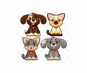 Dog and cat vector pack - animal vectors (dog, doggie ...