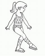Coloring Skating Ice Skater Figure Doll Lol Eiskunstlauf Schlittschuhlaufen Ausmalbilder Kitesurfing Olympic Familie Comments Popular Coloringhome sketch template