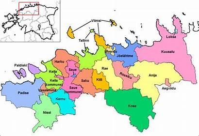 Harju Estonia Tallinn Municipalities County Districts Svg