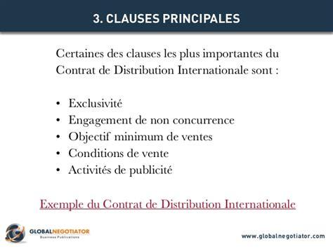 clause de non concurrence exemple contrat de distribution internationale mod 232 le de contrat et exemple