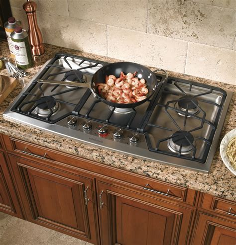 propane countertop stoves zgu385lsmss ge monogram 174 36 quot stainless steel gas cooktop