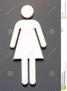 Fermale Symbol On Bathroom Sign Stock Image
