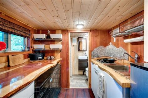 sq ft mountaineer tiny home  rooftop deck