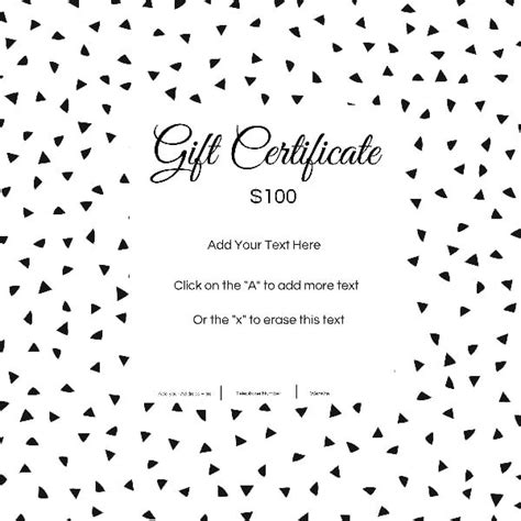 gift certificate template  customizable background