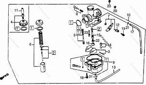 Honda Atv 1984 Oem Parts Diagram For Carburetor