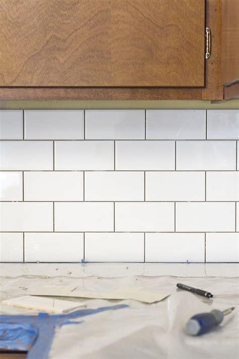 white subway tile backsplash story dream green diy