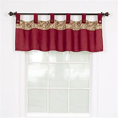 burgundy valance buy stanfield window valance in burgundy from bed bath beyond