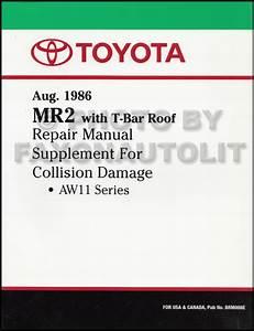 1987 Toyota Mr2 Repair Shop Manual Original