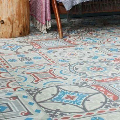 shalimar vinyl flooring patterned patchwork encaustic