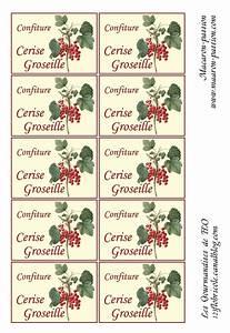 Mes étiquettes Gratuites à Imprimer : confiture cerise groseille tiquettes 1 2 3 flo ~ Nature-et-papiers.com Idées de Décoration