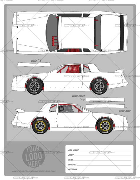 race car template stock template 1 school of racing graphics