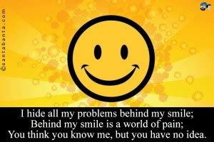 Hide Behind My Smile Quotes
